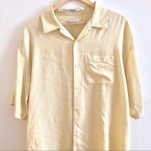 Geoffrey Beene silk shirt XL